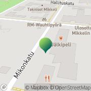 Kartta Etelä-Savon TE-keskus yritysoasto Mikkeli, Suomi