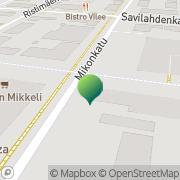 Kartta Liikkuva Poliisi Mikkelin yksikkö Mikkeli, Suomi