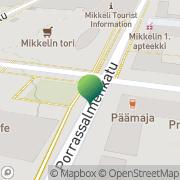 Kartta Etelä-Savon Eurooppatiedotus Mikkeli, Suomi