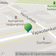Kartta Kemijärven kaupunki sosiaali- ja terveysosasto Kemijärvi, Suomi