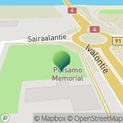 Kartta Lapin rajavartiosto Raja-Joosepin rajavartioasema Ivalo, Suomi