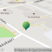Kartta Leppävirran kunta vapaa-aikatoimisto Leppävirta, Suomi