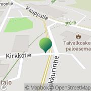 Kartta Taivalkosken kunta Taivalkoski, Suomi