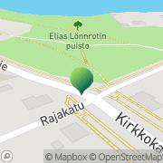 Kartta Nurmeksen kaupunki kaupunginkirjasto Nurmes, Suomi