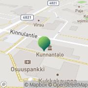 Kartta Rääkkylän kunta sivistysosasto Rääkkylä, Suomi