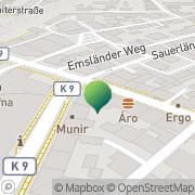 Karte GLS PaketShop Meerane, Deutschland