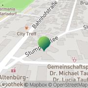 Karte Reisebüro Modery Karlsdorf-Neuthard, Deutschland