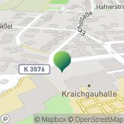 Karte Grösser Postagentur + Schreibwaren Kislau, Deutschland