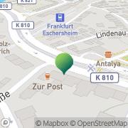 Karte Gaststätte Zur Post Frankfurt am Main, Deutschland