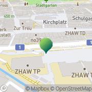 Karte Bibliothek Winterthur, Schweiz