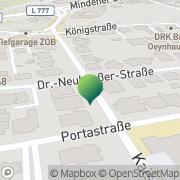 Karte Apotheke an der Post Bad Oeynhausen, Deutschland