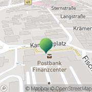 Karte Deutsche Post Hanau, Deutschland