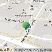 Karte Albaque A. Sindelfingen, Deutschland