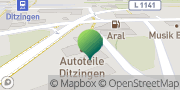 Karte GLS PaketShop Ditzingen, Deutschland
