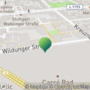 Karte Post Stuttgart, Deutschland