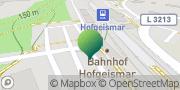 Karte GLS PaketShop Hofgeismar, Deutschland