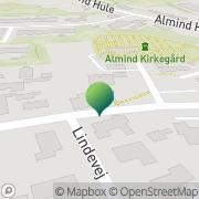Kort Alminde Forsamlingshus Almind, Danmark