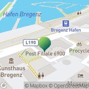 Karte Postfiliale 6900 Bregenz Bregenz, Österreich