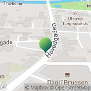Kort Politimesteren I Århus Ulstrup, Danmark