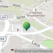 Karte Gemeindeamt Egg Egg, Österreich