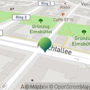 Karte Deutsche Post & DHL Station Hamburg, Deutschland