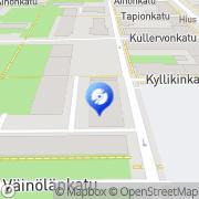 Kartta Tampereen Rock-Center Tampere, Suomi