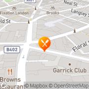 Map Five Guys Theatre District, United Kingdom