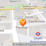 Map Five Guys North Kensington, United Kingdom