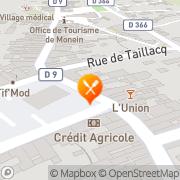Carte de ASSOCIATION A TOUT SERVICE Monein, France