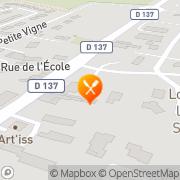 Carte de SICARD (PAINS BRIOCHES) SA Saint-Jean-de-Beugné, France