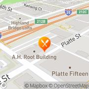 Map Paris on the Platte Cafe Denver, United States