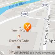 Map Oscar's Cafe Durango, United States