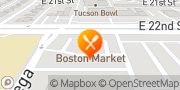 Map Boston Market Tucson, United States