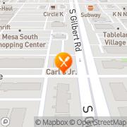 Map Carl's Jr. Mesa, United States