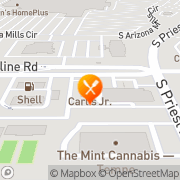 Map Carl's Jr. Guadalupe, United States