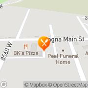 Map Grub Box Restaurant Magna, United States