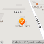 Map Boston Pizza Red Deer County, Canada