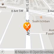 Map Sushi Ichiban Japanese Restaurant Calgary, Canada