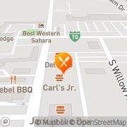 Map Carl's Jr Blythe, United States