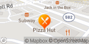 Map Pizza Hut Las Vegas, United States