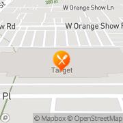 Map Pizza Hut Express San Bernardino, United States