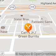 Map Carl's Jr. Alta Loma, United States