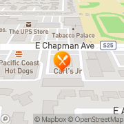 Map Carl's Jr. Orange, United States