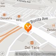 Map Carl's Jr San Dimas, United States