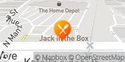 Map Jack in the Box Orange, United States