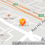 Map Denny's Costa Mesa, United States