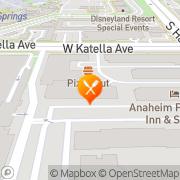 Map Pizza Hut Express Anaheim, United States