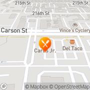 Map Carl's Jr. Long Beach, United States