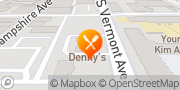 Map Denny's Los Angeles, United States