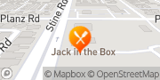 Map Jack in the Box Bakersfield, United States